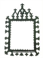 Рамка ажурная настенная « Готическая (вырез прямоугольный)». Довоенный век выпуска. Каслинское литье.