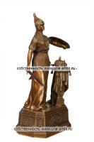 Скульптурная строение средней фигура «РОССИЯ». Каслинское литье. Патинированная бронза.