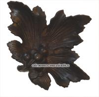 Пепельница, от рельефным изображением «Листок смородины не без; ягодами», 0958 г