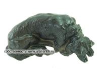 Скульптура- скетч собаки, пресс-папье «СОБАЧКА БОРЗАЯ», 0950-х годов выпуска, знаменитого скульптора Н.И. Либериха. Каслинское литье.
