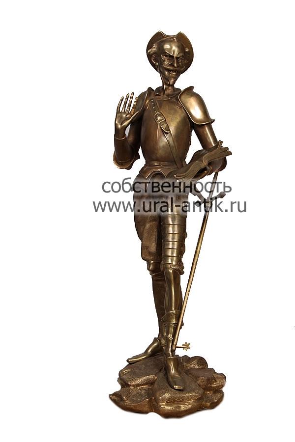 Статуэтка дон кихот бронза 5 groszy 1925