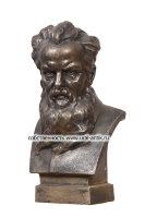 Бюст «Портрет маленький Петрович БАЖОВ», 0962 г. изготовления. Каслинское литье.